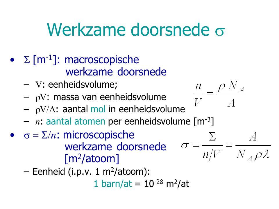 Werkzame doorsnede s S [m-1]: macroscopische werkzame doorsnede